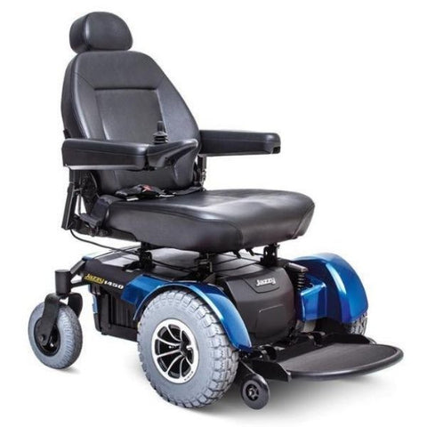 Pride Jazzy 1450 Heavy Duty Power Chair Blue Right View
