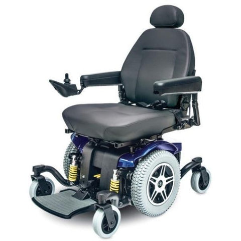 Pride Jazzy 614 HD Power Chair Blue Front View