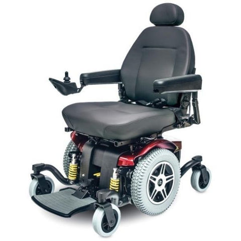 Pride Jazzy 614 HD Power Chair Red Left View