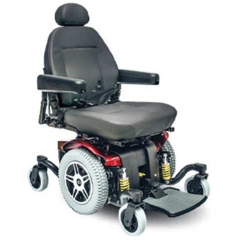 Pride Jazzy 614 HD Power Chair Red Right View