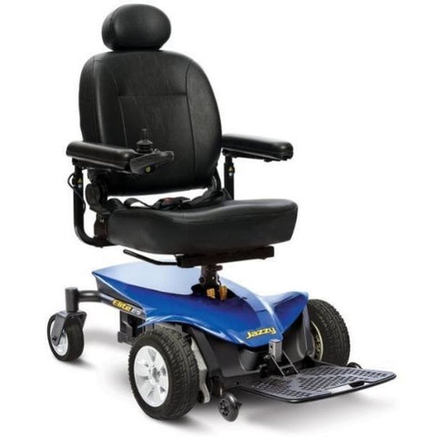 Pride Jazzy Elite ES Power Chair Blue Right View