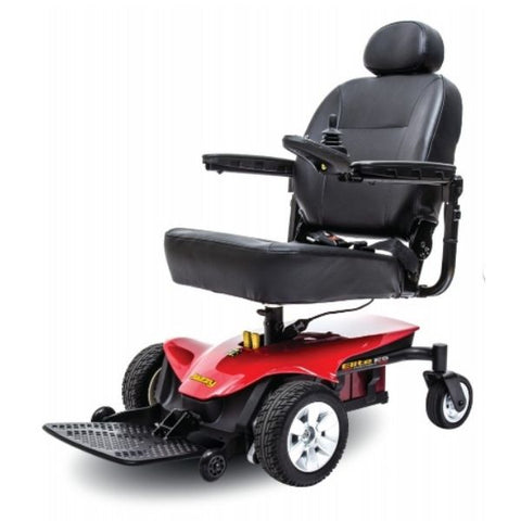 Pride Jazzy Elite ES Power Chair Red Left View