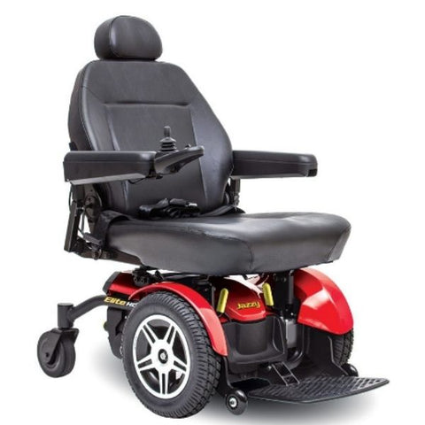 Pride Jazzy Elite HD Front Wheel Power Chair Red Front View