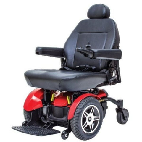 Pride Jazzy Elite HD Front Wheel Power Chair Red Left View