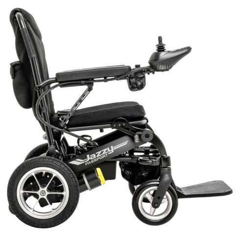 Pride Jazzy Passport Folding Power Chair Side View