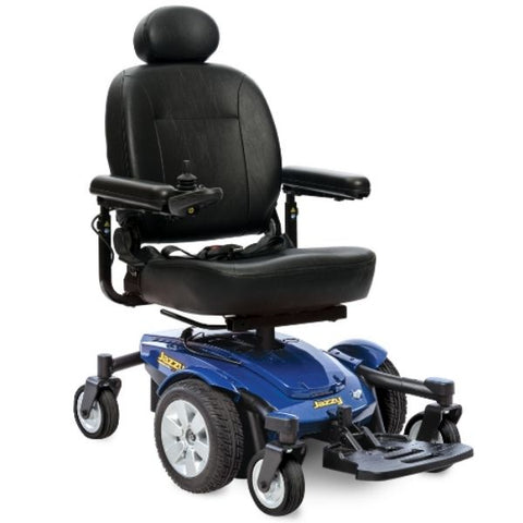 Pride Jazzy Select 6 Power Chair Blue Front View