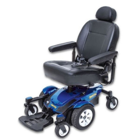 Pride Jazzy Select 6 Power Chair Blue Left View