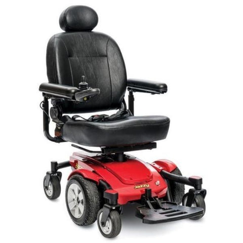 Pride Jazzy Select 6 Power Chair Red Front View