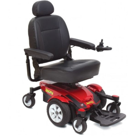 Pride Jazzy Select 6 Power Chair Red Right View