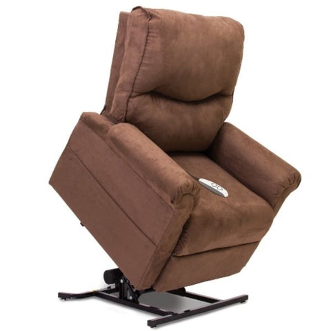 Pride Mobility Essential Collection 3-Position Lift Chair LC-105 Cocoa Micro-Suede Standing View