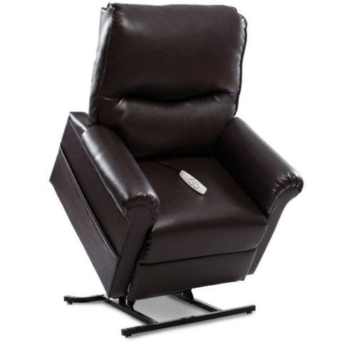 Pride Mobility Essential Collection 3-Position Lift Chair LC-105 New Chestnut Lexis Urethane Standing View