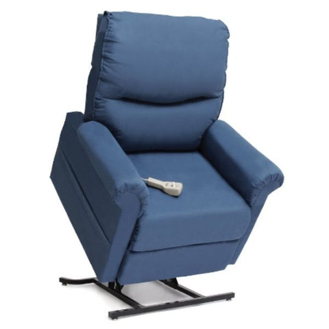 Pride Mobility Essential Collection 3-Position Lift Chair LC-105 Sky Micro-Suede Standing View