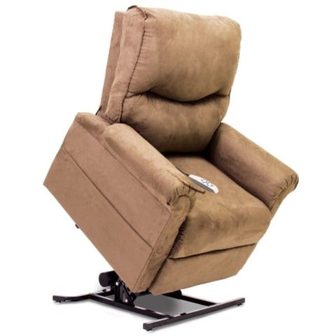 Pride Mobility Essential Collection 3-Position Lift Chair Sandal Micro-Suede Standing View