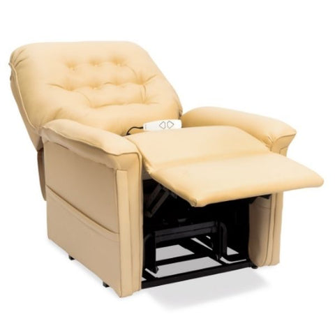 Pride Mobility Heritage Collection 3-Position Lift Chair LC-358 Buff Ultraleather Split-T Back View