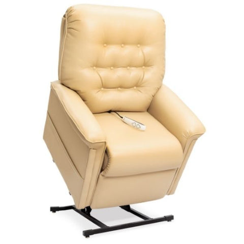 Pride Mobility Heritage Collection 3-Position Lift Chair LC-358 Buff Ultraleather Standing View