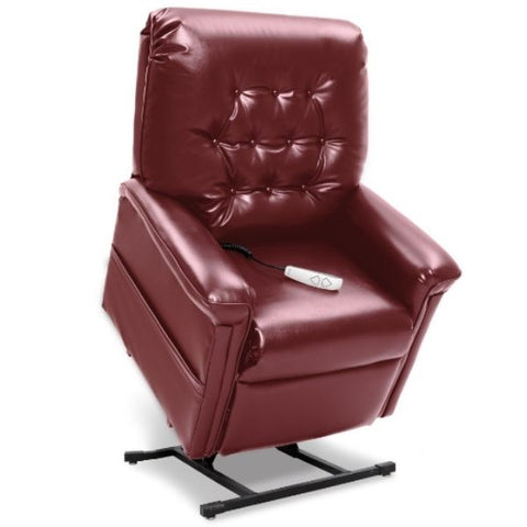 Pride Mobility Heritage Collection 3-Position Lift Chair LC-358 Burgundy Lexis Sta Kleen Standing View