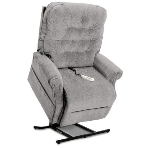 Pride Mobility Heritage Collection 3-Position Lift Chair LC-358 Cool Grey Crypton Aria Standing View