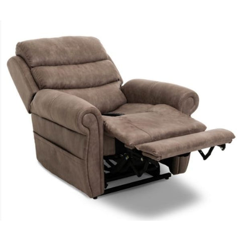 Pride Mobility Viva Lift Tranquil Infinite-Position Lift Chair PLR-935 Astro Mushroom Footrest Extension View