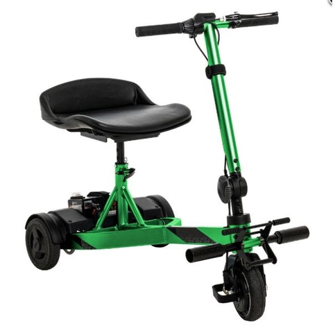 Pride Mobility iRide Ultra Lightweight Scooter Lime Front iew