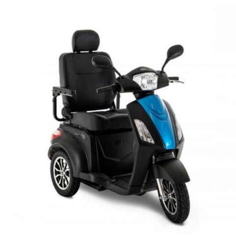 Pride Raptor 3-Wheel Scooter R3-1700 Black Blue Front View