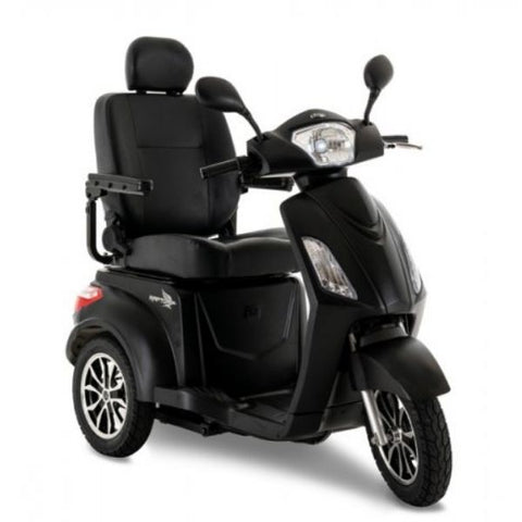 Pride Raptor 3-Wheel Scooter R3-1700 Black Matte Black Front View
