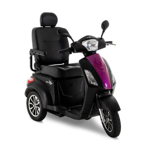 Pride Raptor 3-Wheel Scooter R3-1700 Black Pink Front View