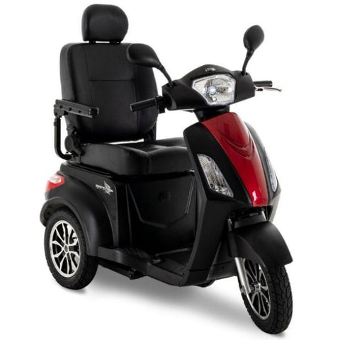 Pride Raptor 3-Wheel Scooter R3-1700 Black Red Front View
