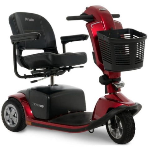 Pride Victory 10.2 Mid-Size Bariatric 3-Wheel Scooter SC6102 Red Front View