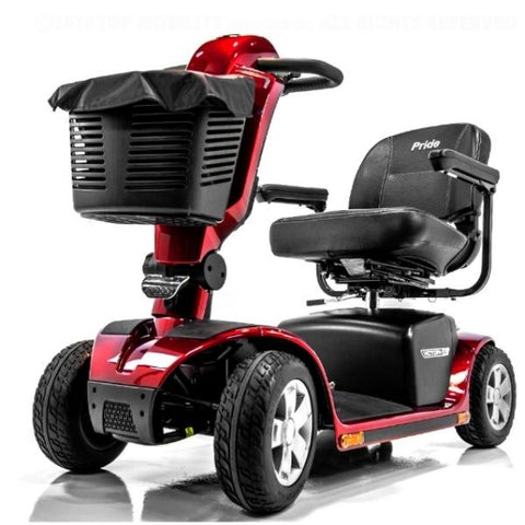 Pride Victory 10.2 Mid-Size Bariatric 4 Wheel Scooter SC7102 Red Base View