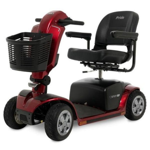 Pride Victory 10.2 Mid-Size Bariatric 4 Wheel Scooter SC7102 Red Left View