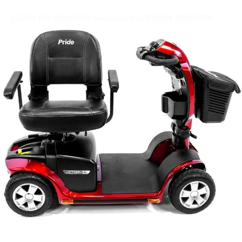 Pride Victory 10.2 Mid-Size Bariatric 4 Wheel Scooter SC7102 Seat View