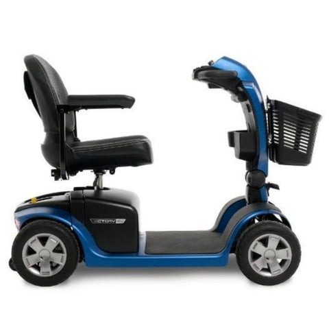 Pride Victory 10.2 Mid-Size Bariatric 4 Wheel Scooter SC7102 Side View