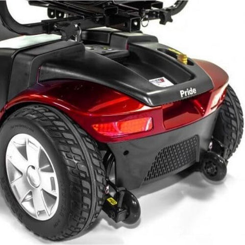 Pride Victory 10 4-Wheel Power Scooter SC710 Back lights and Rear Wheels View
