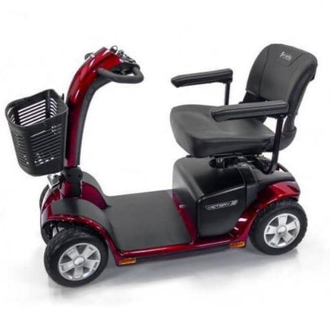 Pride Victory 10 4-Wheel Power Scooter SC710 Red Side View