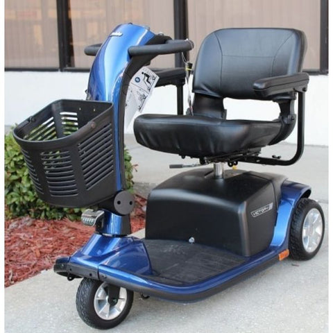 Pride Victory 9 3-Wheel Scooter SC609 Blue Front Right Side
