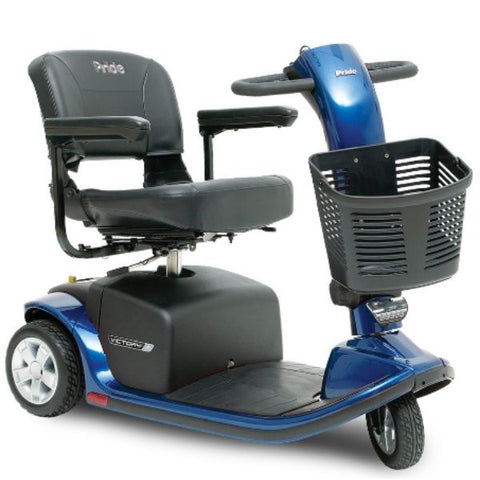 Pride Victory 9 3-Wheel Scooter SC609 Blue Front View