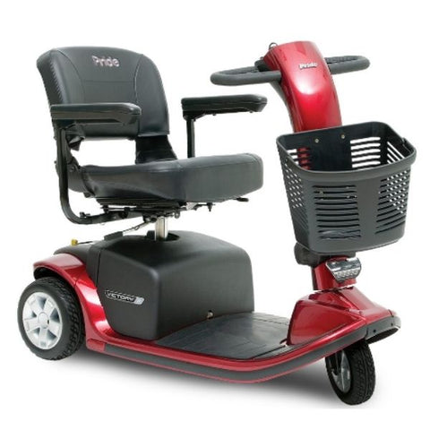 Pride Victory 9 3-Wheel Scooter SC609 Red Front View