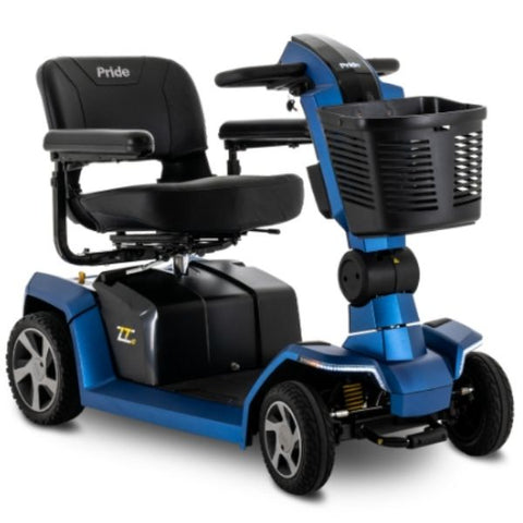 Pride ZT10 4-Wheel Mobility Scooter Blue Front View