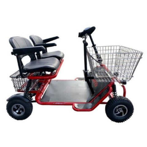 RMB E Quad XL Mobility Scooter Red Side View