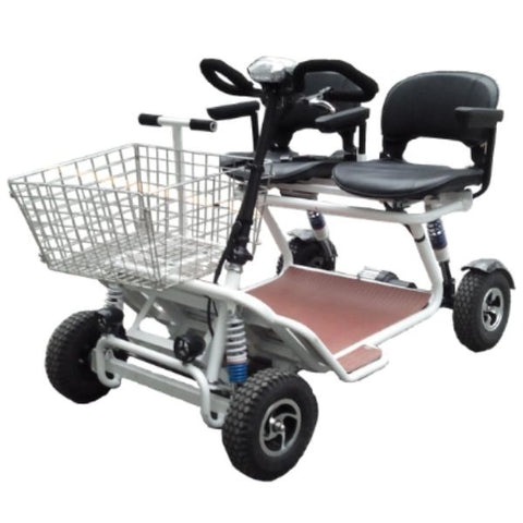 RMB e Quad XL Mobility Scooter White Front View
