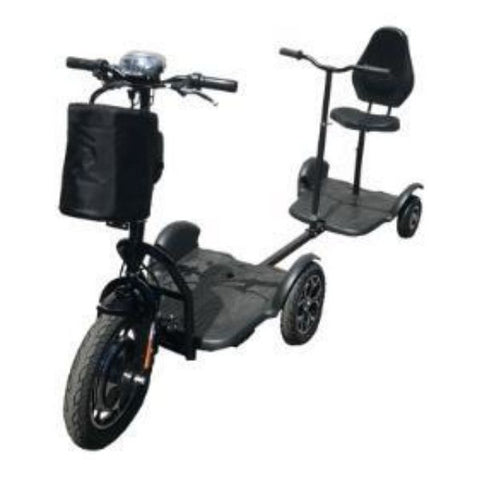 RMB EV Protean Scooter With Tag a Long Trailer Front View