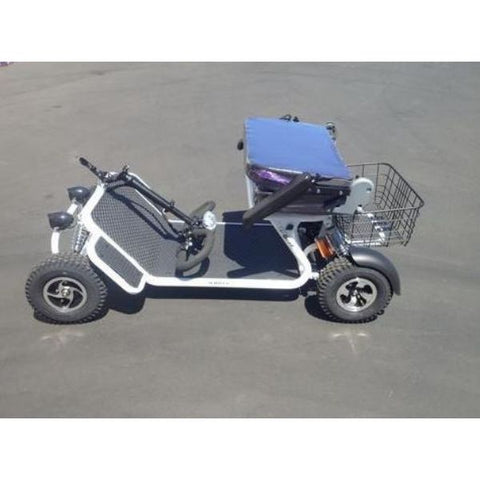 RMB e Quad Mobility Scooter Fold Down Tiller Folding Seat View
