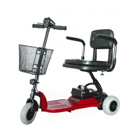 Shoprider Echo 3 Wheel Scooter SL73 Red Front View