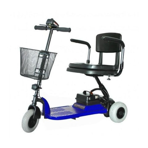 Shoprider Echo Light 3 Wheel Scooter Blue Left View