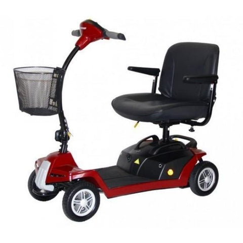 Shoprider Escape 4 Wheel Scooter Red Left View