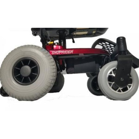 Shoprider Jimmie Portable Power Chair Wheels View