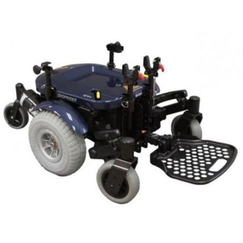 Shoprider XLR Plus Electric Wheelchair Wheel and Footplate View