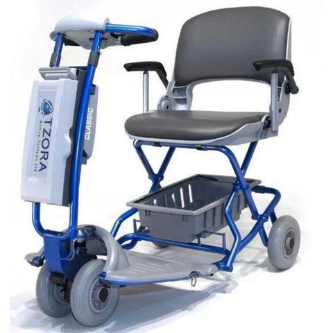 Tzora Classic Portable Mobility Scooter Blue Front View