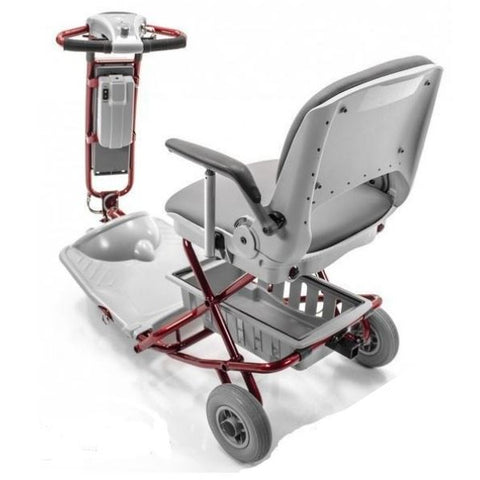 Tzora Classic Portable Mobility Scooter Red Back View