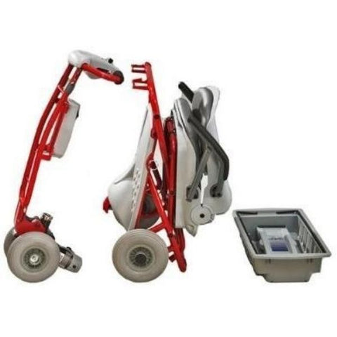 Tzora Classic Portable Mobility Scooter Red Disassemble View